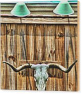 Southwestern Longhorn Skull Wood Print