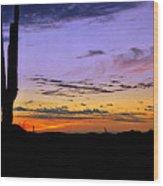 Southwestern Style Sunrise  Wood Print