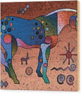 Southwestern Symbols Wood Print