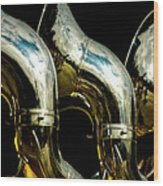 Souzaphones On Parade Wood Print by by Ken Ilio