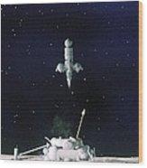 Soviet Luna 16 Spacecraft, 1970 Wood Print