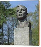 Soviet Monument To Yuri Gagarin Wood Print by Detlev Van Ravenswaay