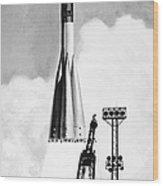 Soviet Soyuz Rocket, 1975 Wood Print