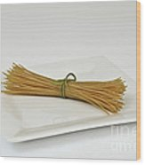 Soybean Spaghetti Wood Print by Photo Researchers