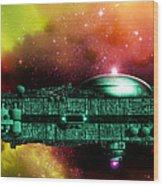 Space Ark Wood Print by Victor Habbick Visions