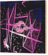 Space Battle Wood Print