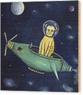 Space Bob Wood Print
