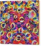 Space Bubbles Wood Print