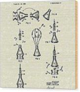 Space Capsule 1961 Patent Art #2 Wood Print by Prior Art Design