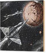 Space Exploration Science-fiction Artwork Wood Print