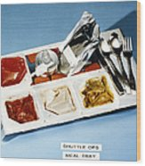 Space: Food Tray, 1982 Wood Print