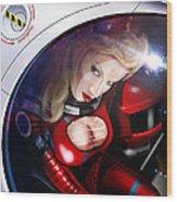 Space Girl Wood Print