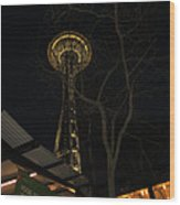 Space Needle Entertainment Wood Print