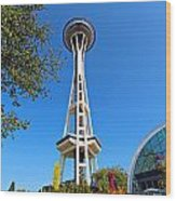 Space Needle In Seattle Washington  Wood Print
