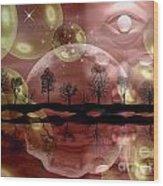 Space Planet Wood Print