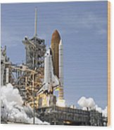 Space Shuttle Atlantis Twin Solid Wood Print