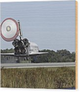 Space Shuttle Atlantis Unfurls Its Drag Wood Print