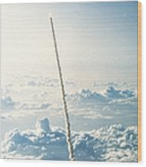 Space Shuttle Challenger Wood Print