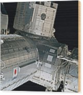 Space Shuttle Discovery And Components Wood Print