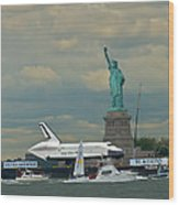 Space Shuttle Enterprise 2 Wood Print