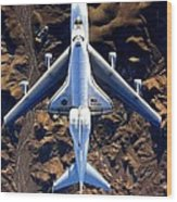 Space Shuttle Piggyback Wood Print