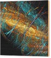 Space Storm Wood Print
