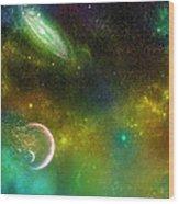 Space001 Wood Print by Svetlana Sewell