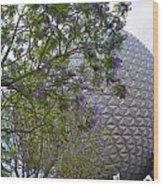 Spaceship Earth  Epcot Center Wood Print