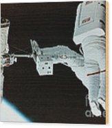 Spacewalk Wood Print