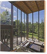 Spacious Living Room With A View Wood Print