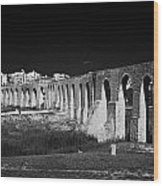 Span Of The Kamares Aqueduct Larnaca Republic Of Cyprus Europe The Aqueduct Was Built In 1750 Wood Print