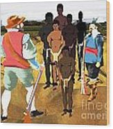 Spaniards Capturing Slaves Wood Print