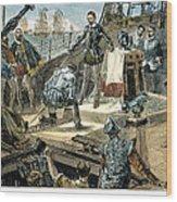 Spanish Armada Wood Print by Granger