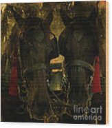 Spanish Carriage Horses Wood Print by Lee Dos Santos