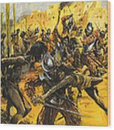 Spanish Conquistadors Wood Print