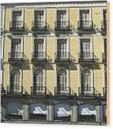 Spanish Facade Madrid Wood Print