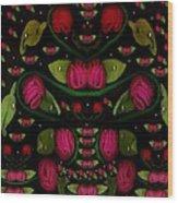 Spanish Flamenco Roses In Fantasy Style Wood Print