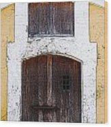 Spanish Fort Door Castillo San Felipe Del Morro San Juan Puerto Rico Prints Poster Edges Wood Print