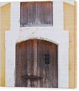 Spanish Fort Door Castillo San Felipe Del Morro San Juan Puerto Rico Prints Wood Print