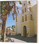 Spanish Mission In Todos Santos Wood Print