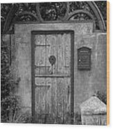Spanish Renaissance Courtyard Door Wood Print