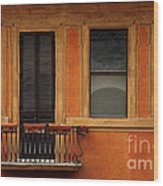 Spanish Steps Balcony Rome Italy Wood Print