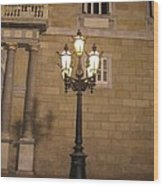 Spanish Street Light Wood Print