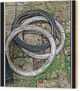 Spare Tires Wood Print