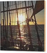 Sparkle In The Rigging Wood Print by L Jaye Bell
