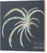 Sparkler Wood Print by Alys Caviness-Gober