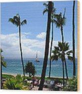 Sparkling Sea At Kaanapali Maui Wood Print
