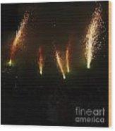 Sparks Of Pens Wood Print