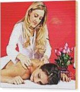 Special Spa Massage Wood Print