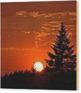 Spectacular Sunset II Wood Print